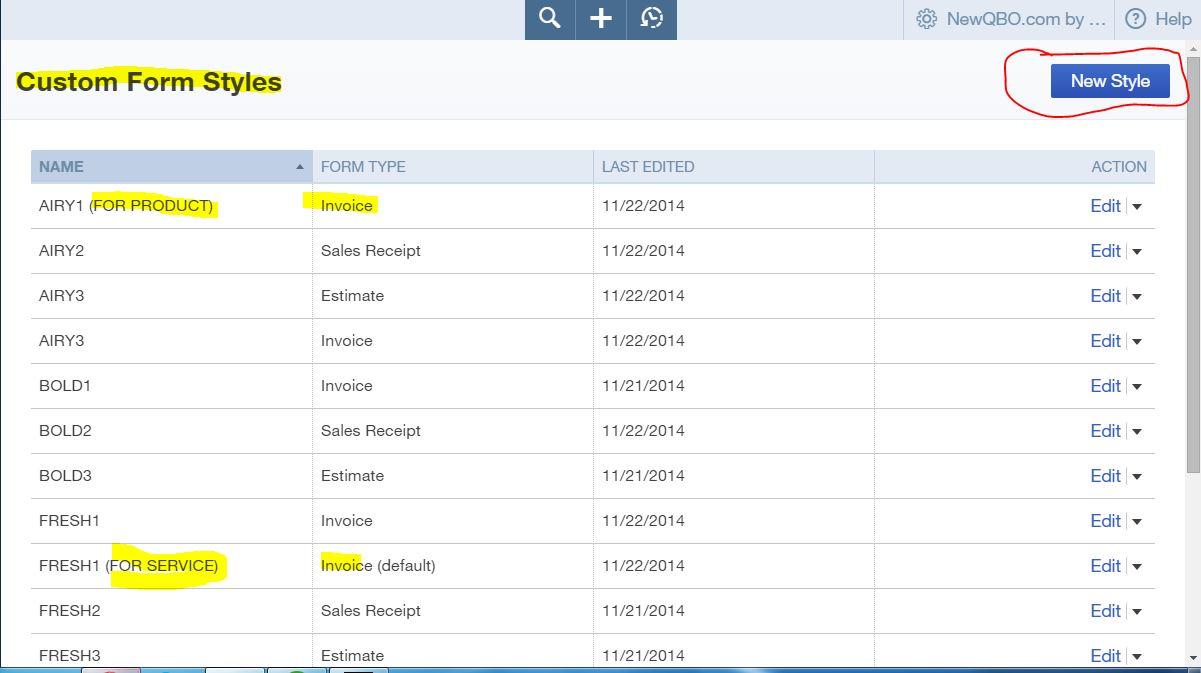 Quickbooks online quickbooks online tutorial for Qbo invoice template