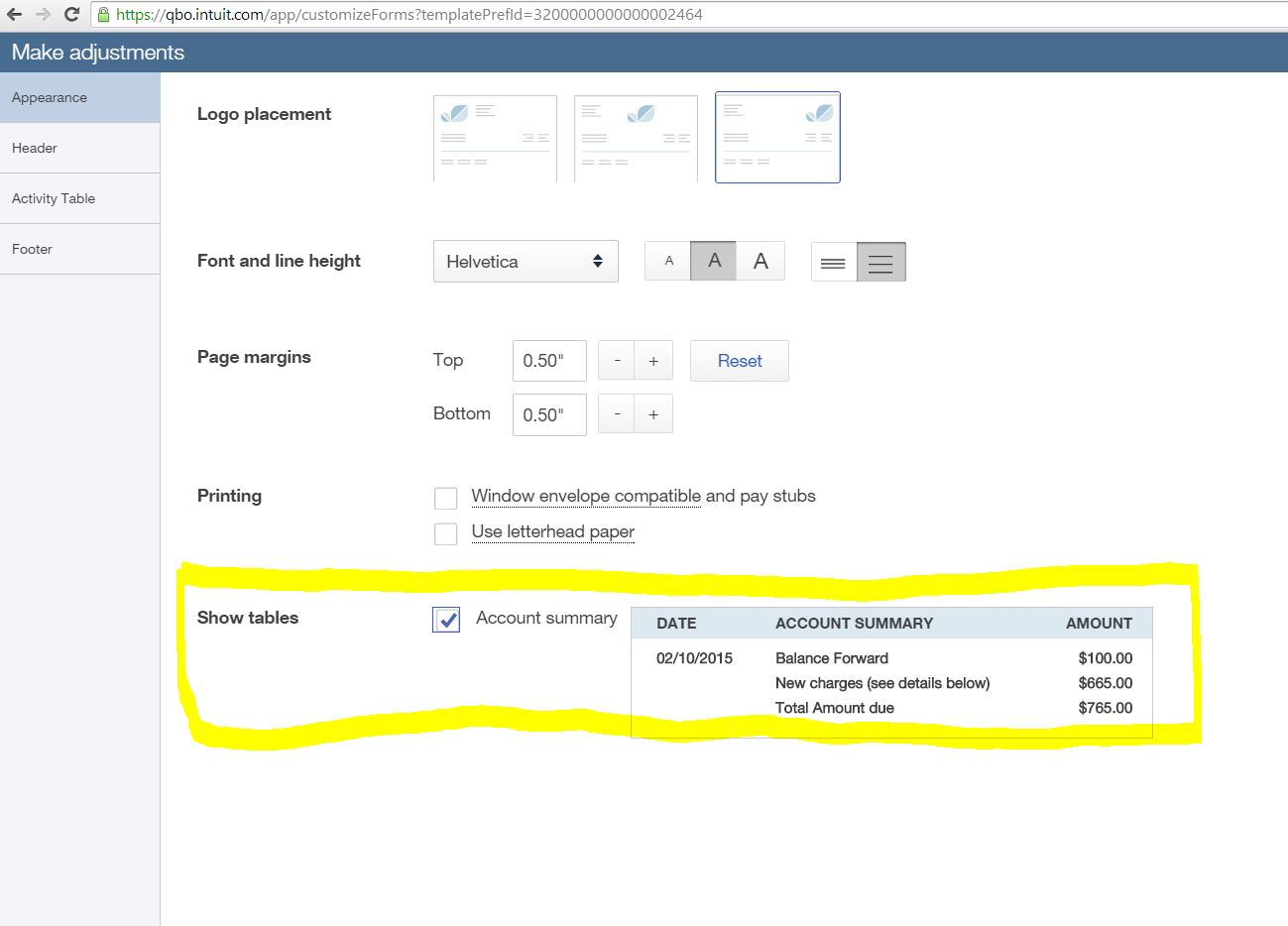 How To Show Total Amount Due On Invoice With Balance