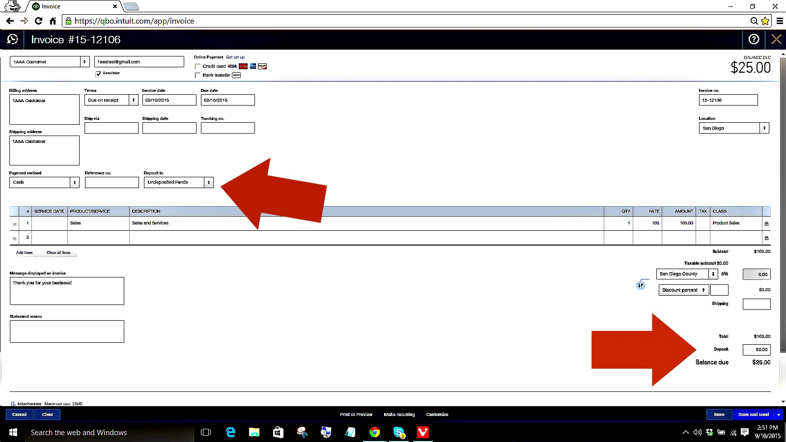 how to handle a partial payment when creating an invoice in qbo   u2013 newqbo com
