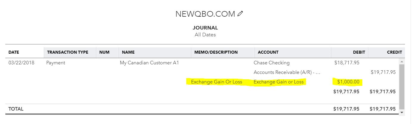 Exchange Gain/Loss